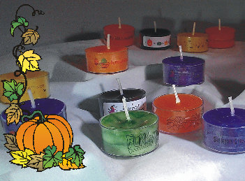 Halloween Tealights with Fun Halloween Themes